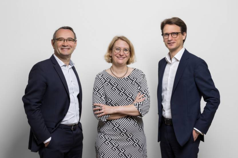 François Darpas, Amélie Brossier et David Kusters © Aldebaran Capital Partners