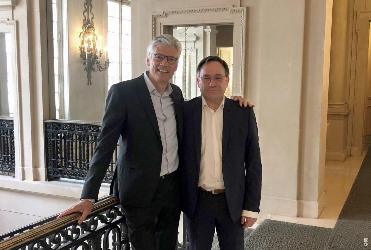 Jean-Michel Bénard, ITS Group et Alain Brigatti, AMD Conseil - ©DR