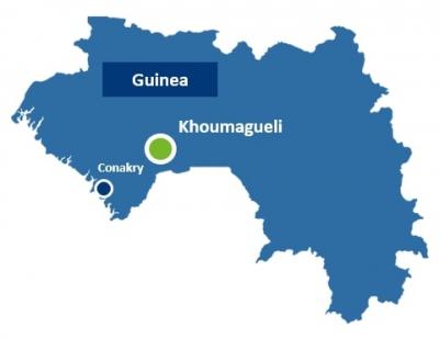 Localisation de la centrale de Khoumagueli - infracoafrica.com