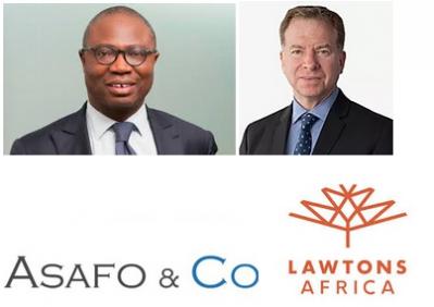 Pascal Agboyibor, Asafo & Co et Jeff Buckland, Lawtons Africa