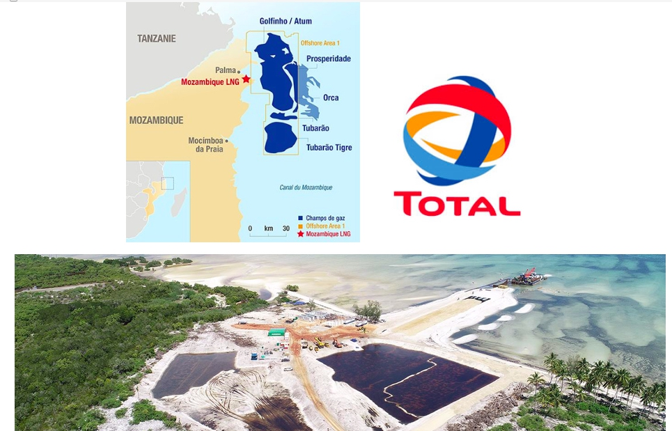 Premier développement à terre d'une usine de gaz naturel liquéfié (GNL) au Mozambique, le projet Mozambique LNG fait suite à la découverte en 2010 d'importantes quantités de gaz naturel dans le bassin de Rovuma au large des côtes nord du pays. - © Total