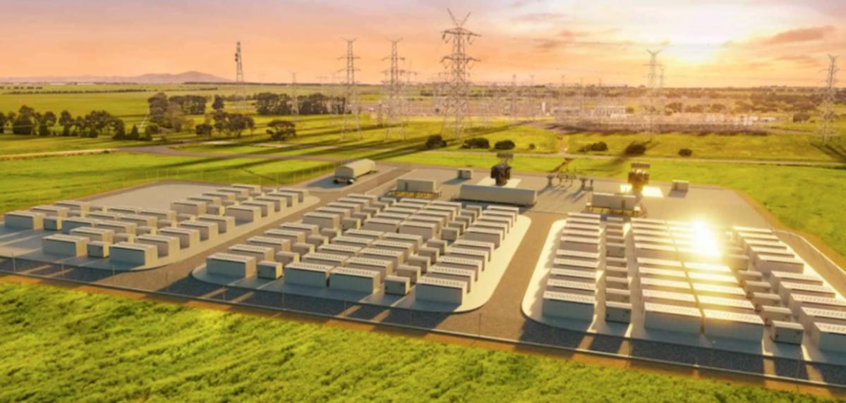 Le projet de la Victorian Big Battery, porté par Neoen en Australien. © DR