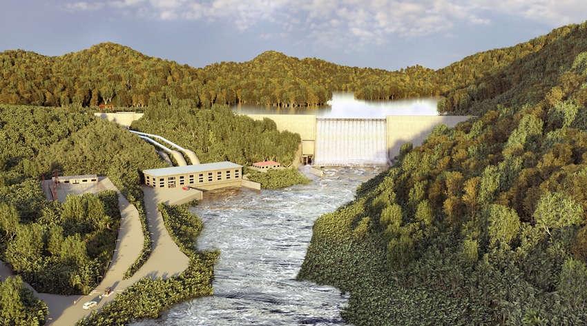 Projet de centrale hydroélectrique Kinguélé Aval au Gabon. - © DR