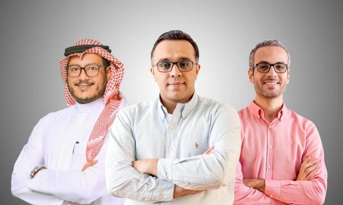Abdullah Al Khaldi (CRO), Hussein Momtaz (CEO), et Ahmed Said (CTO), Koinz. - ©Koinz