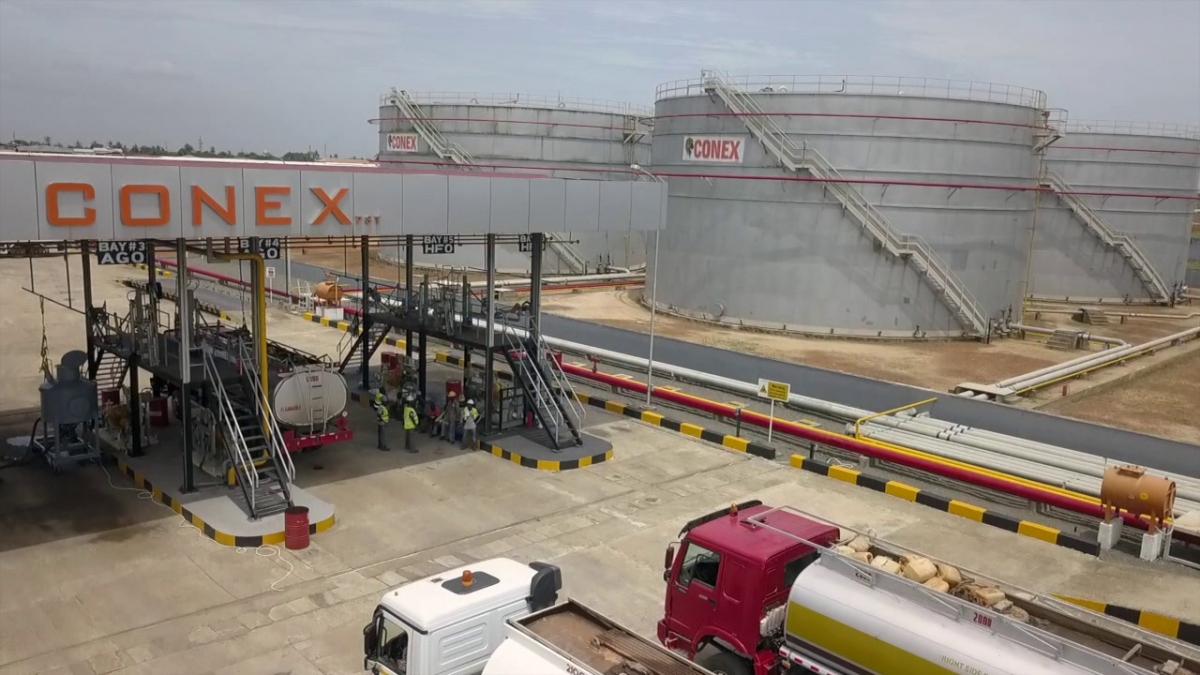 Infrastructures de Conex Oil, société de la holding libérienne Conex Group spécialisée dans la distribution de produits pétroliers.