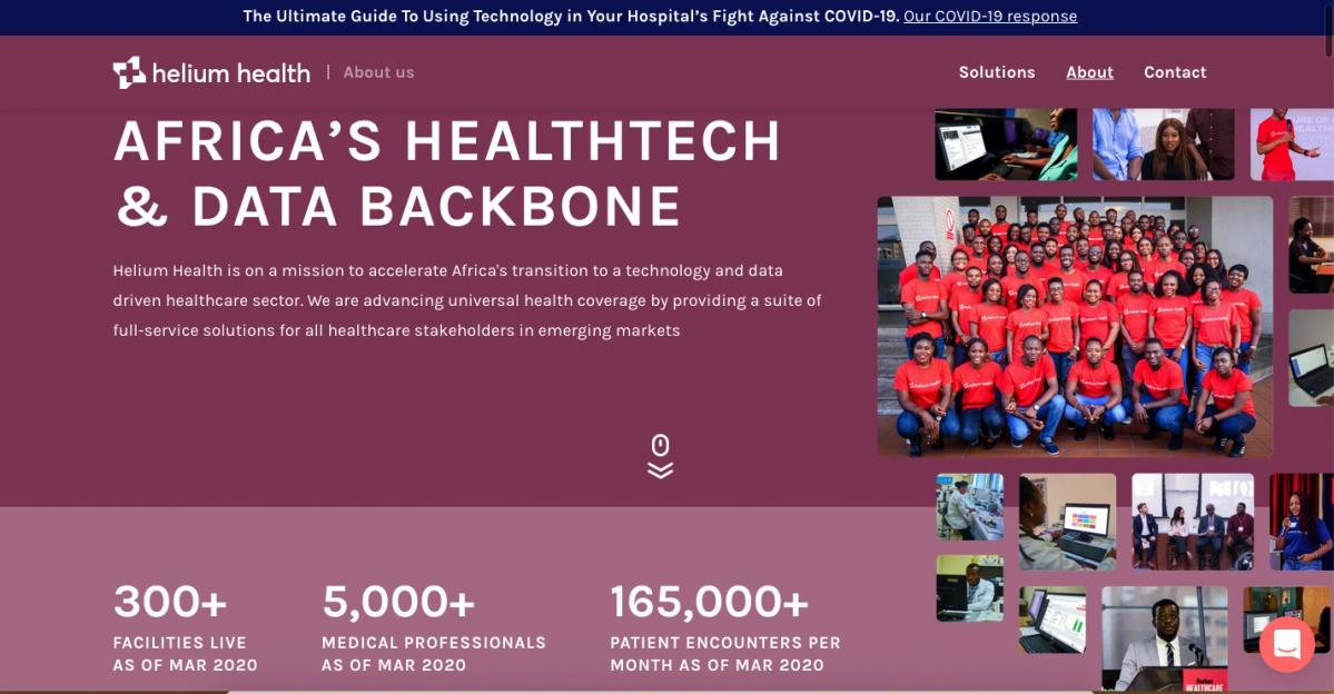 Helium Health est l'un des principaux fournisseurs de solutions technologiques complètes pour tous les acteurs des soins de santé sur les marchés émergents.