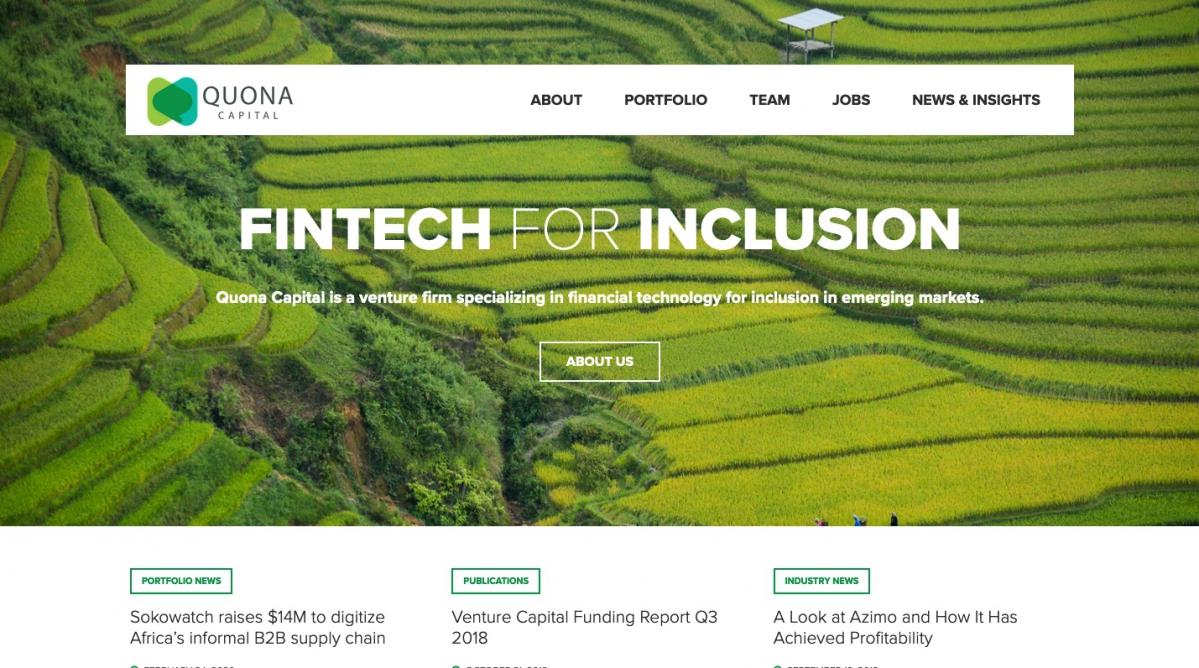 Quona Capital se présente comme le plus important fonds de capital-risque dédié à la promotion des fintech axées sur l'inclusion au sein des marchés émergents.