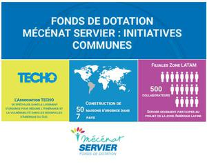 Fonds de dotation Mécénat Servier - Initiatives Communes : Association Techo